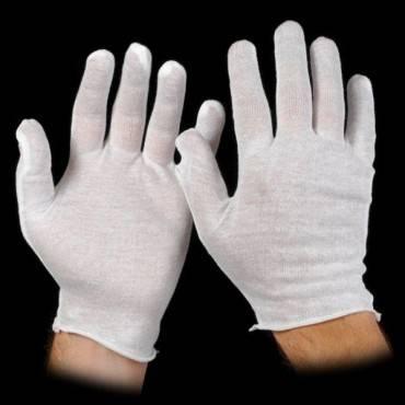 George Glove   Cotton Gloves  White  Pk/12 Pr Part No.71200