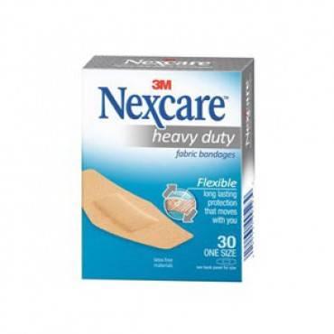 "Nexcare Heavy Duty Flex Fabric, 1-1/18"" x 3"" Part No. 664-30PB Qty  Per Box"