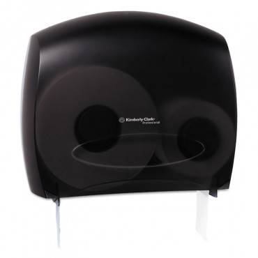 """Jrt Jr. Escort Jumbo Bathroom Tissue Dispenser, 13.33"""" X 5.75"""" X 16"""", Smoke"""