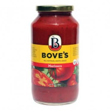 Bove's of Vermont Pasta Sauce - Marinara - Case of 6 - 24 Fl oz.