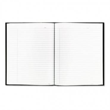 Business Notebook W/black Cover, College Rule, 9 1/4 X 7 1/4, 192 Sheets