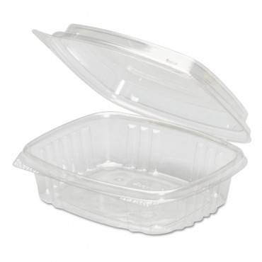 Clear Hinged Deli Container, High Dome Lid, Apet, 8 Oz,5 3/8 X 4 1/2 X 2, 200/ct