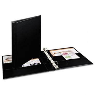 "Durable Binder With Two Booster Ezd Rings, 11 X 8 1/2, 1"", Black (1/Each)"