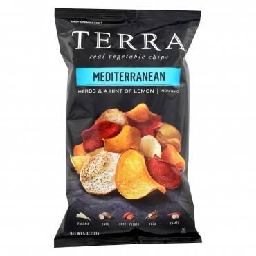 Terra Chips Exotic Vegetable Chips - Mediterranean - Case Of 12 - 5 Oz.