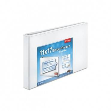 "Clearvue Slant-d Ring Binder, 3 Rings, 1"" Capacity, 11 X 17, White"