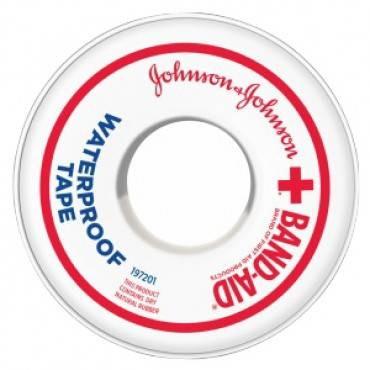 "Johnson & johnson waterproof adhesive tape 1"" x 10 yds. part no. 111615500 (1/ea)"