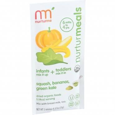 Nurturme Organic NurturMeals Blended Meals - Infant and Toddler - Dried - Squash Banana Green Kale -