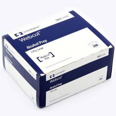 Covidien webcol alcohol prep pads Model: 5110 (200/BX)