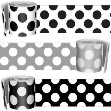 Carson-Dellosa Schoolgirl Style Polka Dot Borders Set (ST/SET)