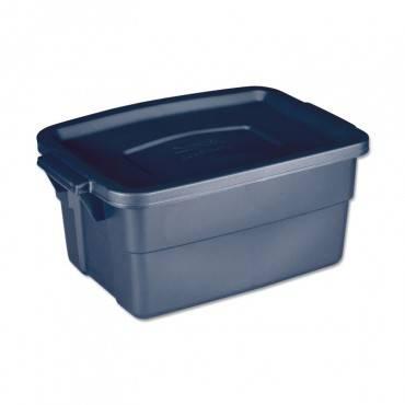 Rubbermaid  ROUGHNECK STORAGE BOX, 10 5/8W X 15.687D X 7H, DARK INDIGO METALLIC RMRT030003 1 Each