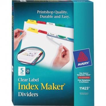Avery® Index Maker Print & Apply Clear Label Dividers with Traditional Color Tabs (BX/BOX)