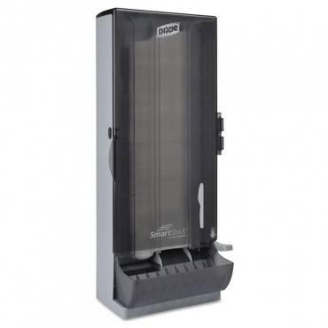 """Smartstock Utensil Dispenser, Knife, 10"""" X 8.78"""" X 24.75"""", Smoke"""