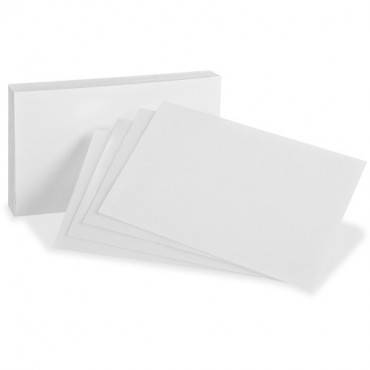 Oxford Blank Index Cards (PK/PACKAGE)