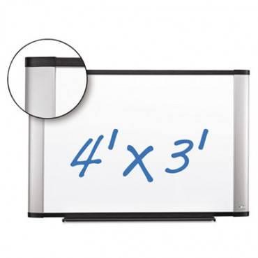 Porcelain Dry Erase Board, 48 X 36, Widescreen Aluminum Frame