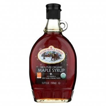 Shady Maple Farms Maple Syrup - Organic - Very Dark - Case of 12 - 16.9 fl oz
