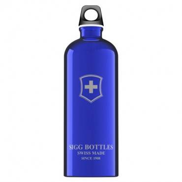 Sigg Water Bottle - Swiss Emblem - Dark Blue - 1 Liter