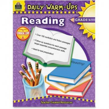 Teacher Created Resources Warm-up Grade 6 Reading Rook Education Printed Book - English (EA/EACH)