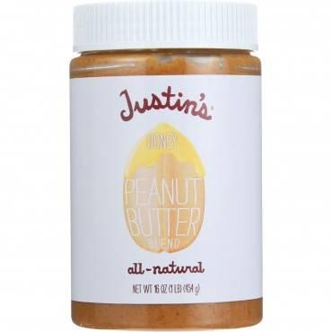 Justin's Nut Butter Peanut Butter - Honey - Case Of 12 - 16 Oz.