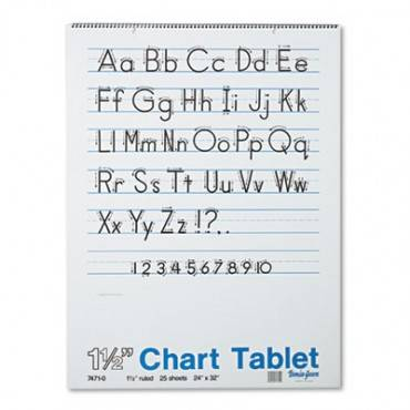 Chart Tablets, Presentation Rule, 24 X 32, 25 Sheets