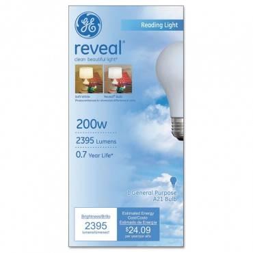 Ge Incandescent Globe Bulbs, 200 Watts