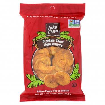 Inka Crops Plantain Chips   - Chile Picante  - Case of 12 - 4 oz.