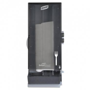 """Smartstock Utensil Dispenser, Fork, 10"""" X 8.78"""" X 24.75"""", Smoke"""
