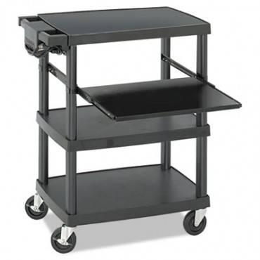 Multimedia Projector Cart, Four-shelf, 27-3/4w X 18-3/4 X 34-3/4, Black