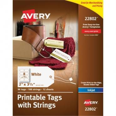 Avery® Printable Tags with Strings (PK/PACKAGE)