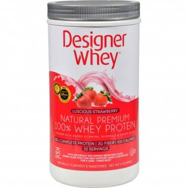 Designer Whey - Protein Powder - Strawberry - 2 Lbs
