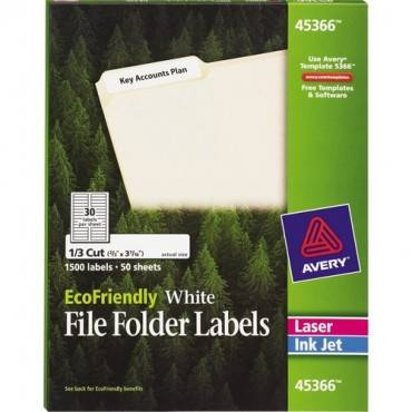 Avery® EcoFriendly Permanent File Folder Labels (BX/BOX)