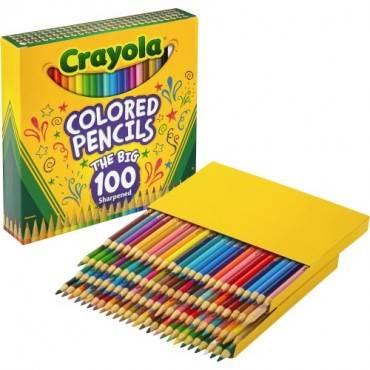 Crayola Colored Pencils 100 count. unique colors pre-sharpened (ST/SET)