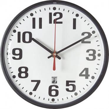 SKILCRAFT Black Body SelfSet Wall Clock (EA/EACH)