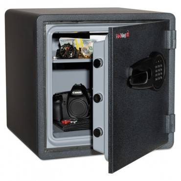 Fireking  One Hour Fire And Water Safe With Electronic Lock, 1.23 Cu. Ft., Graphite