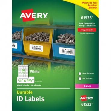 Avery® Permanent Durable ID Labels with TrueBlock Technology (BX/BOX)