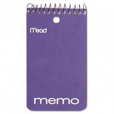 Wirebound Memo Book, Medium/college Rule, 3 X 5, White, 60 Sheets