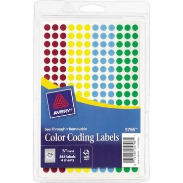Avery® See-Through Color Dots (PK/PACKAGE)