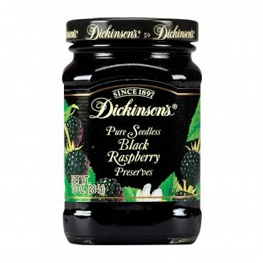 Dickinson Seedless Black Raspberry Preserves - Case of 6 - 10 oz