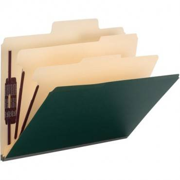 Smead SuperTab Classification Folders with SafeSHIELD Coated Fastener Technology