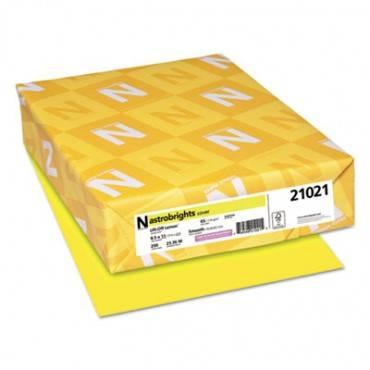 Color Cardstock, 65lb, 8.5 X 11, Lift-off Lemon, 250/pack