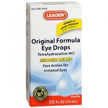 Leader Eye Drops Original Formula, 0.5 oz. Part No. 2260040 Qty 1
