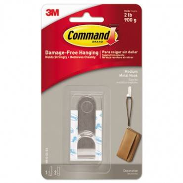 Decorative Hooks, Medium, 1 Hook And 2 Strips/pack