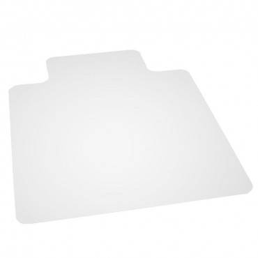 """Deflecto  Economat All Day Use Chair Mat For Hard Floors, Lip, 46"""" X 60"""", Low Pile, Clear"""