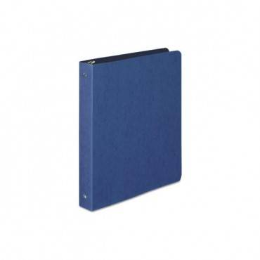 "Presstex Round Ring Binder, 3 Rings, 1"" Capacity, 11 X 8.5, Dark Blue"