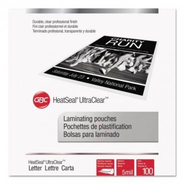 """Ultraclear Thermal Laminating Pouches, 5 Mil, 9"""" X 11.5"""", Gloss Clear, 100/box"""