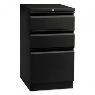 "Hon  Flagship Mobile Box/Box/File Pedestal With ""R"" Pulls, 15w X 16 7/8d, Black"