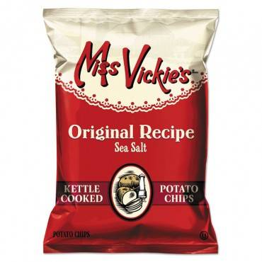 Miss Vickie S  Kettle Cooked Sea Salt Potato Chips, 1.375 Oz Bag, 64/Carton