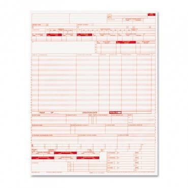 Ub04 Insurance Claim Form, 8 1/2 X 11, 2500 Forms