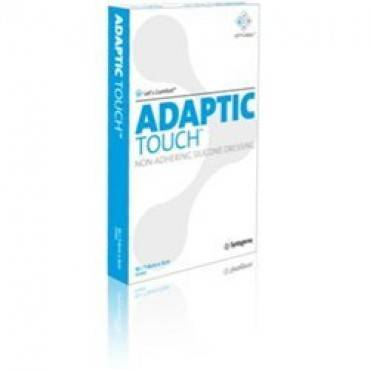 """Adaptic Touch Non-adhering Silicone Dressing, 5"""" X 6"""" Part No. 500503 (10/package)"""
