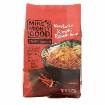 Mike's Mighty Good Soup - Organic - Ramen - Kimchi - Case of 7 - 2.3 oz