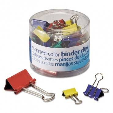 Assorted Colors Binder Clips, Assorted Sizes, 30/pack